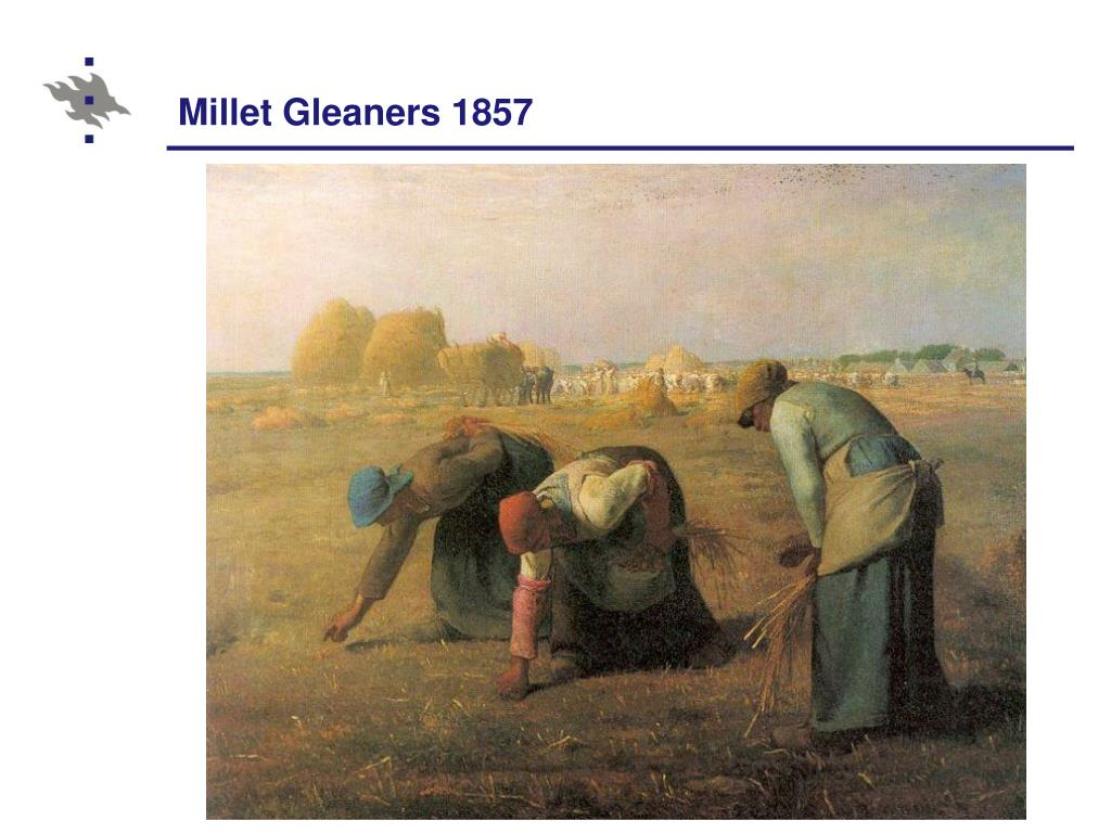 Millet Gleaners 1857