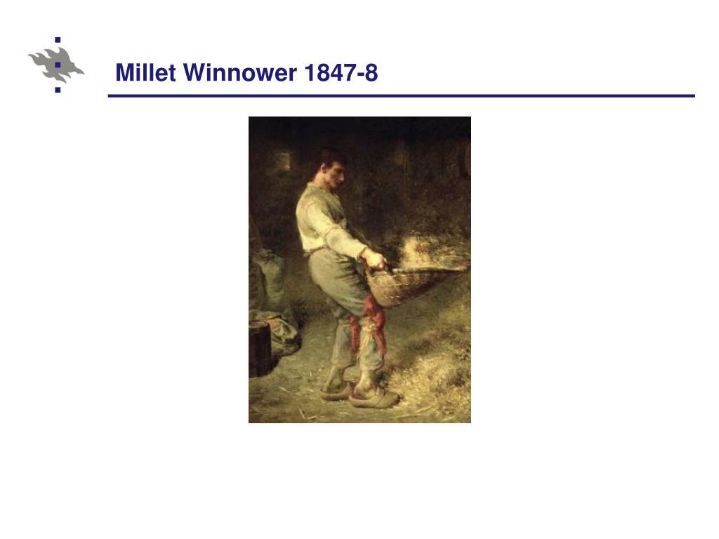 Millet Winnower 1847-8