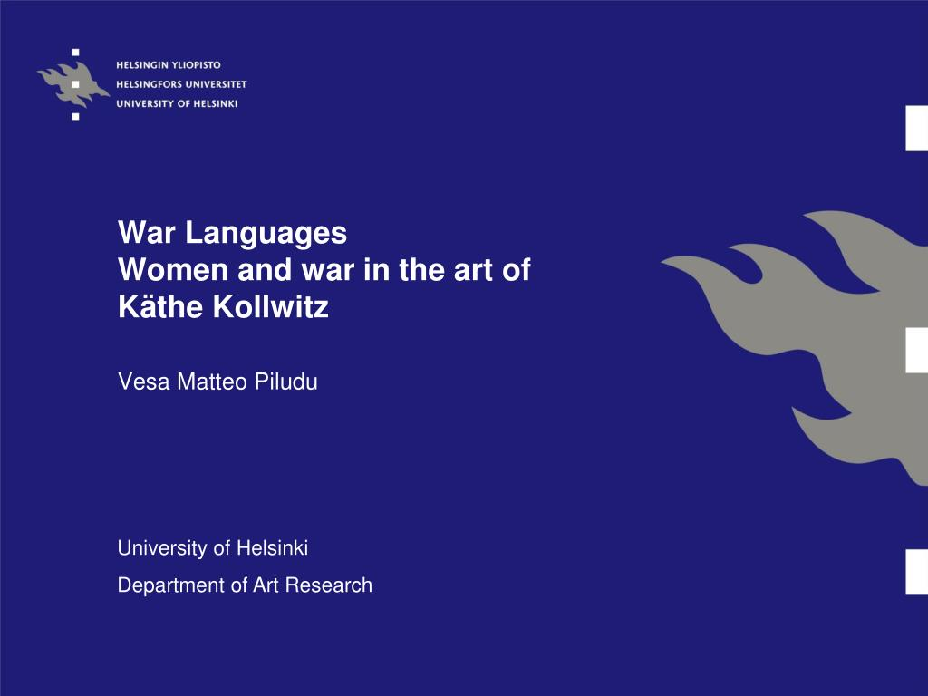 war languages women and war in the art of k the kollwitz l.