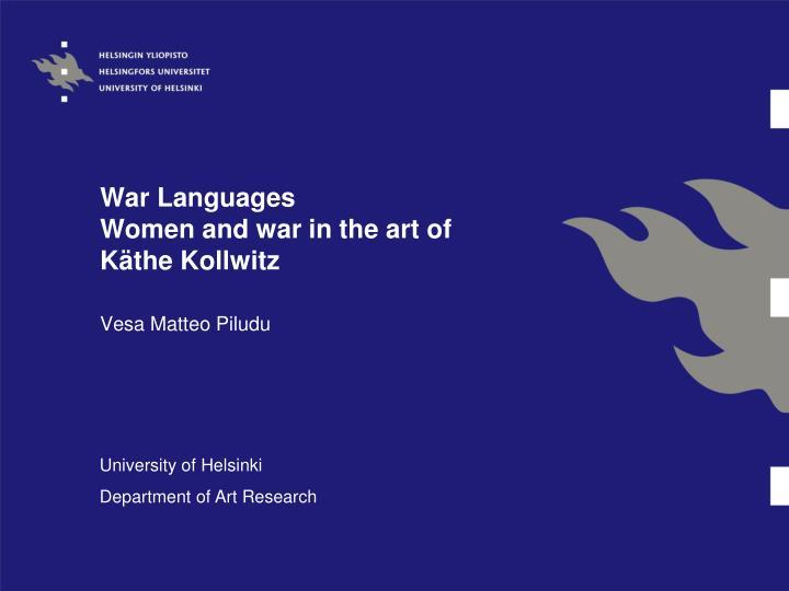 War languages women and war in the art of k the kollwitz