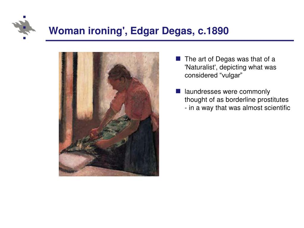 Woman ironing', Edgar Degas, c.1890
