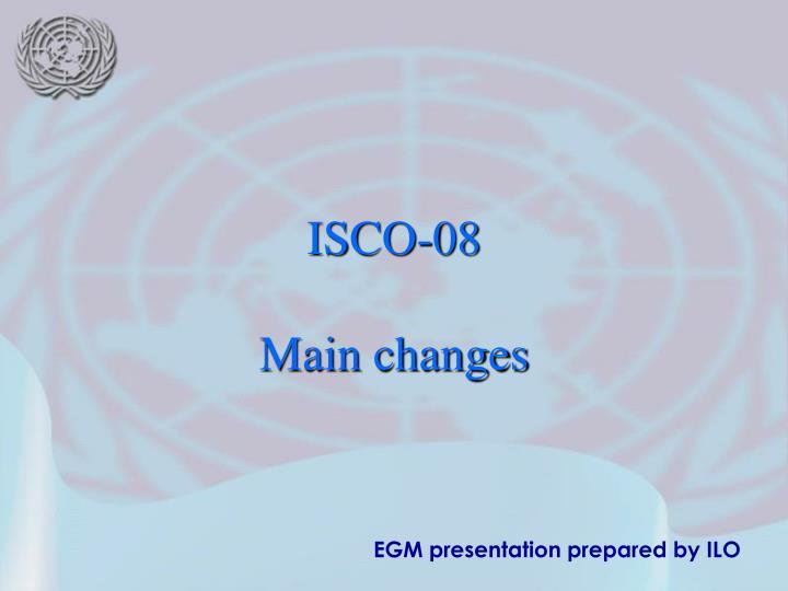 Egm presentation prepared by ilo