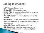 coding instrument