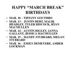 happy march break birthdays