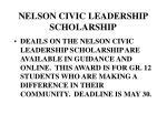 nelson civic leadership scholarship