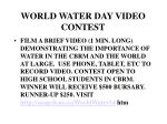 world water day video contest