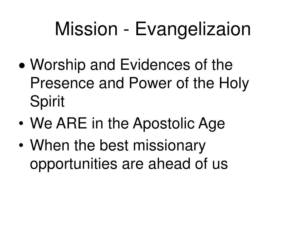 Mission - Evangelizaion