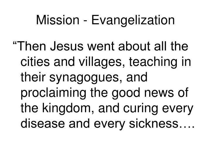 Mission evangelization