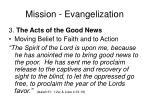 mission evangelization21