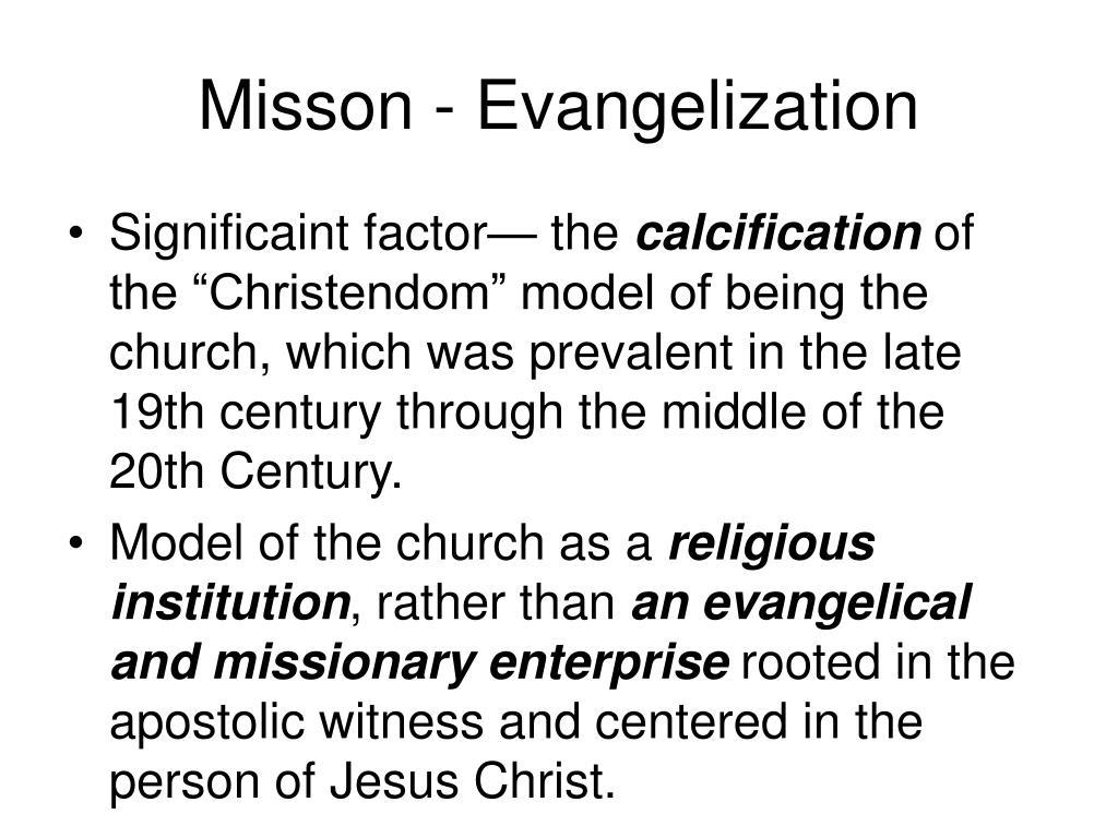 Misson - Evangelization