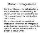 misson evangelization