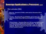 beverage applications processes cont d27