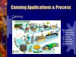 canning applications process