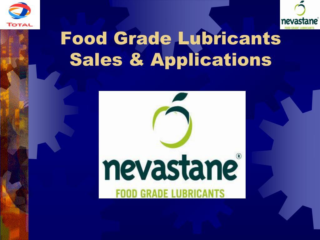 food grade lubricants sales applications l.
