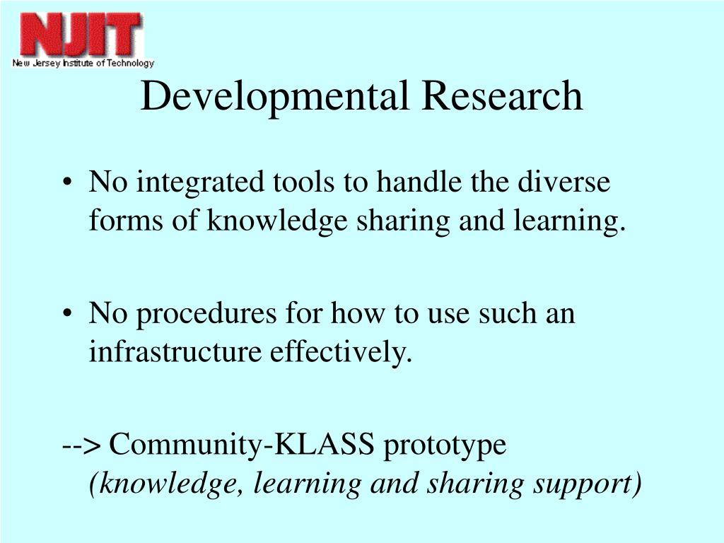 developmental research
