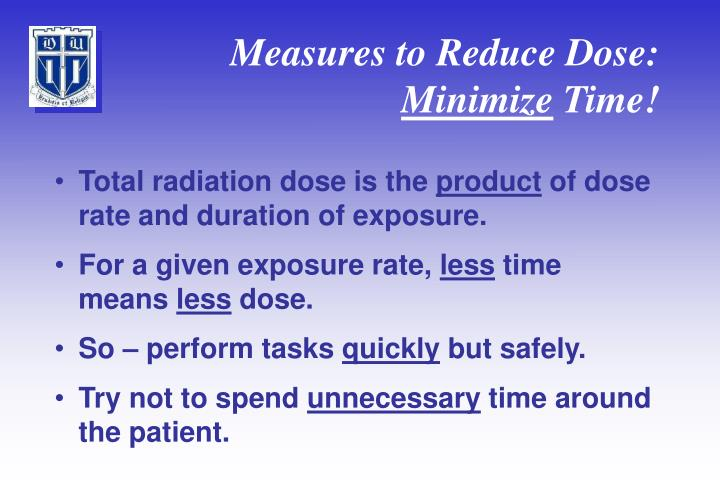 Measures to Reduce Dose: