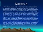 matthew 4