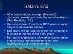 satan s end