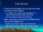 two errors