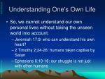 understanding one s own life18