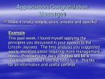 appreciation congratulation messages