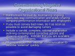 communicating negative organizational news