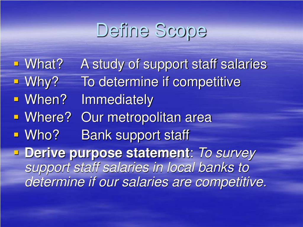 Define Scope