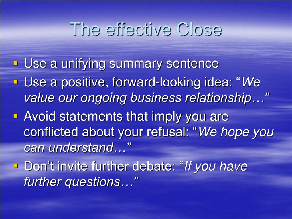 The effective Close