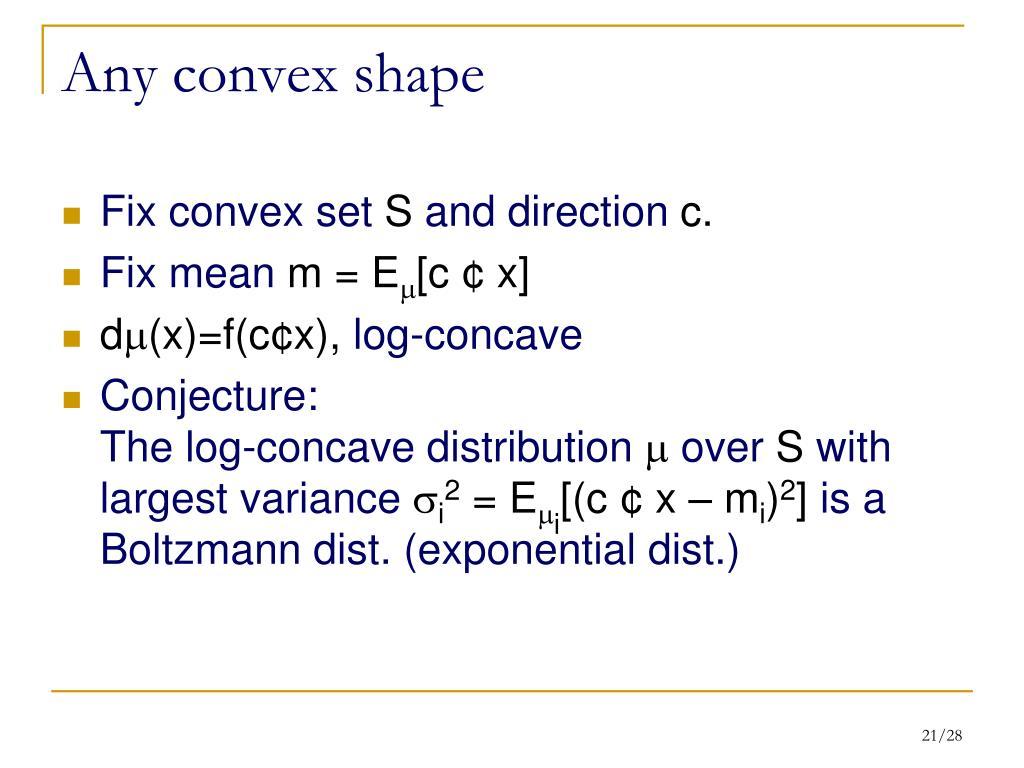 Any convex shape
