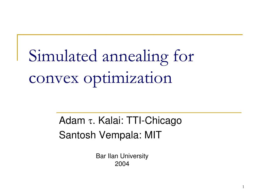 Simulated annealing for convex optimization