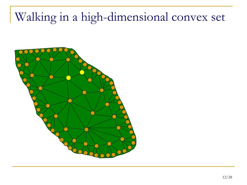 Walking in a high-dimensional convex set