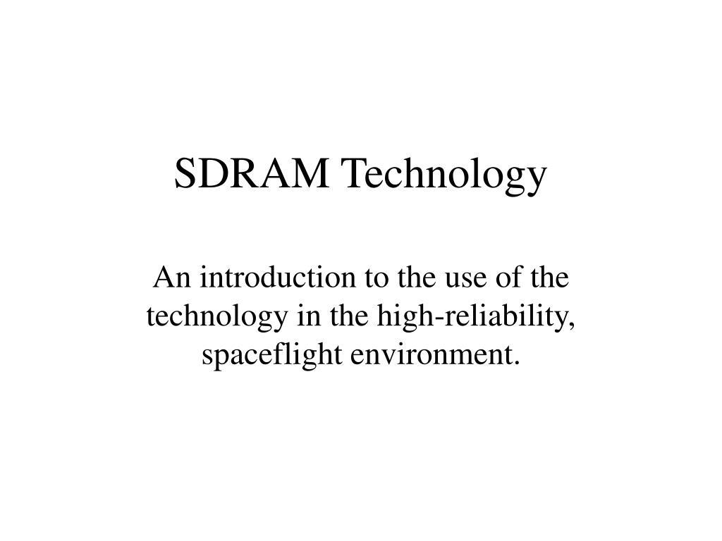 sdram technology l.