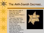 the anti jewish decrees