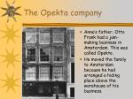 the opekta company