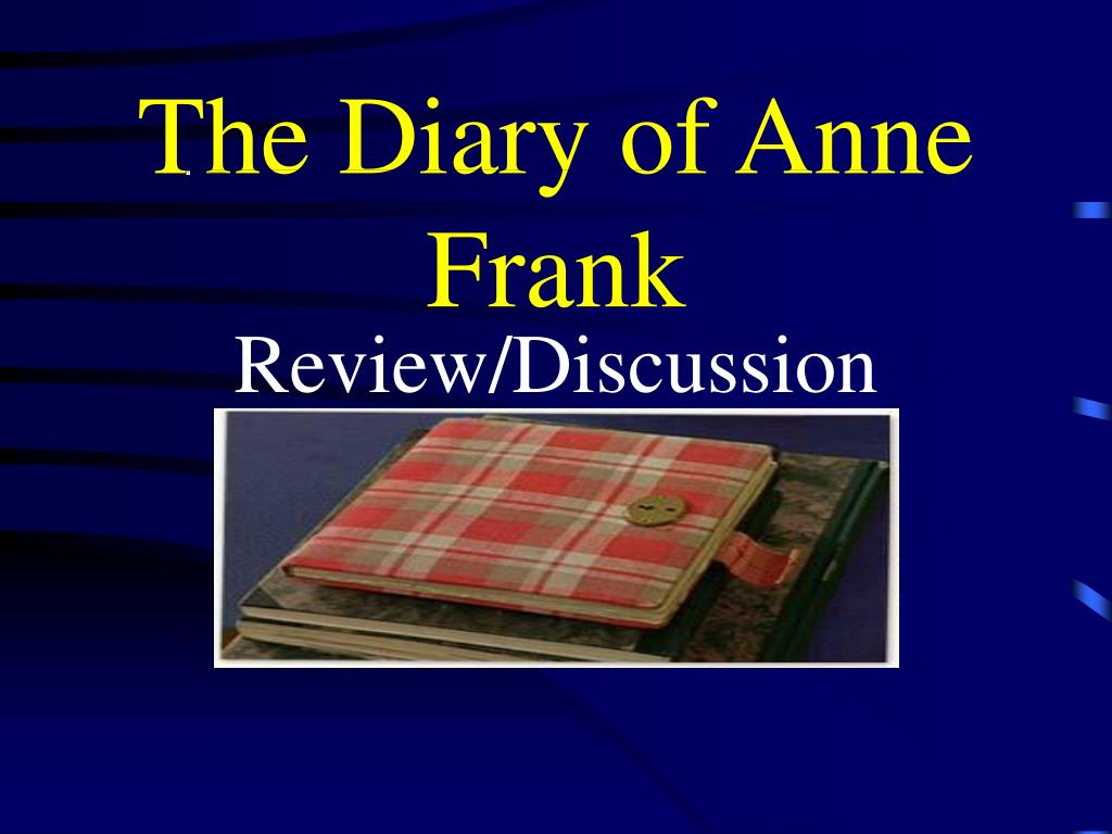 the diary of anne frank l.