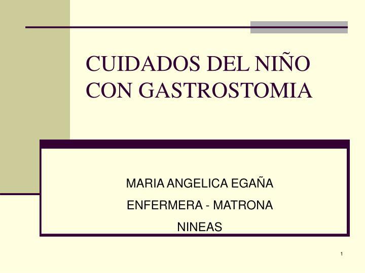 cuidados del ni o con gastrostomia n.