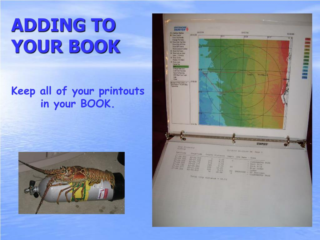 ADDING TO YOUR BOOK