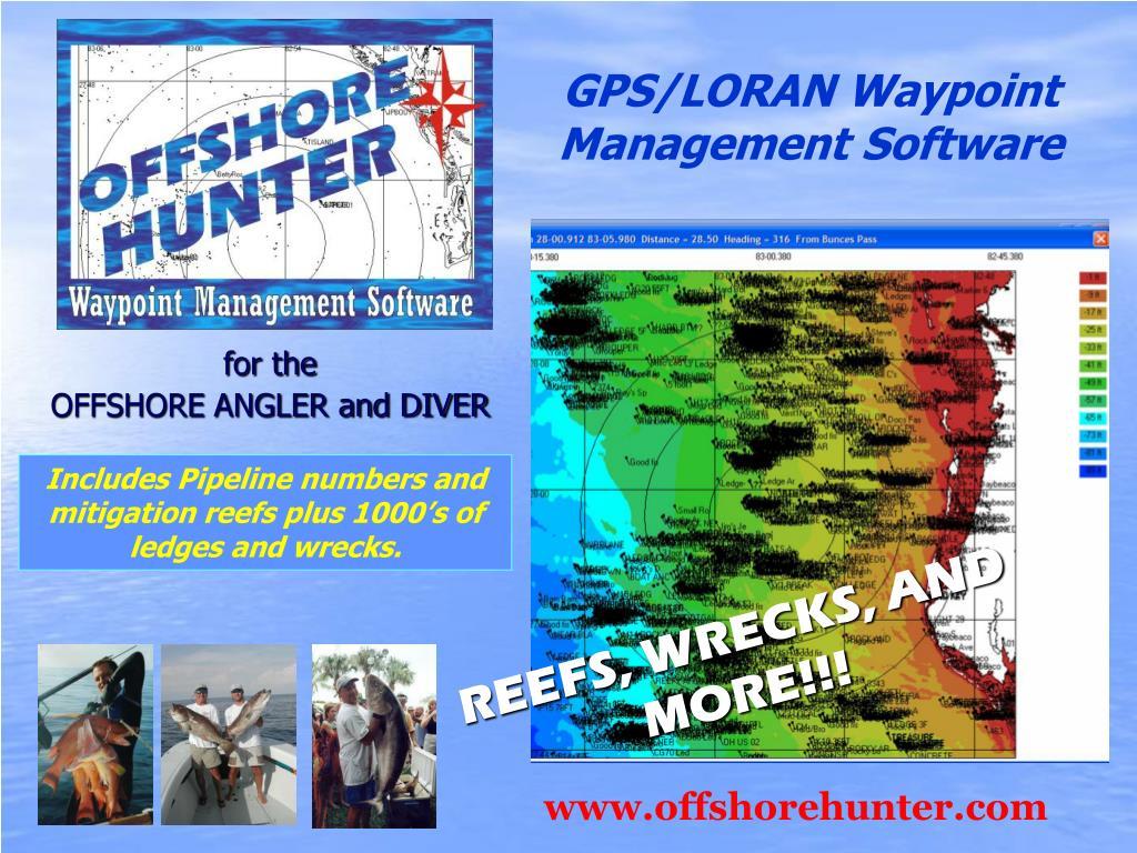 GPS/LORAN Waypoint Management Software