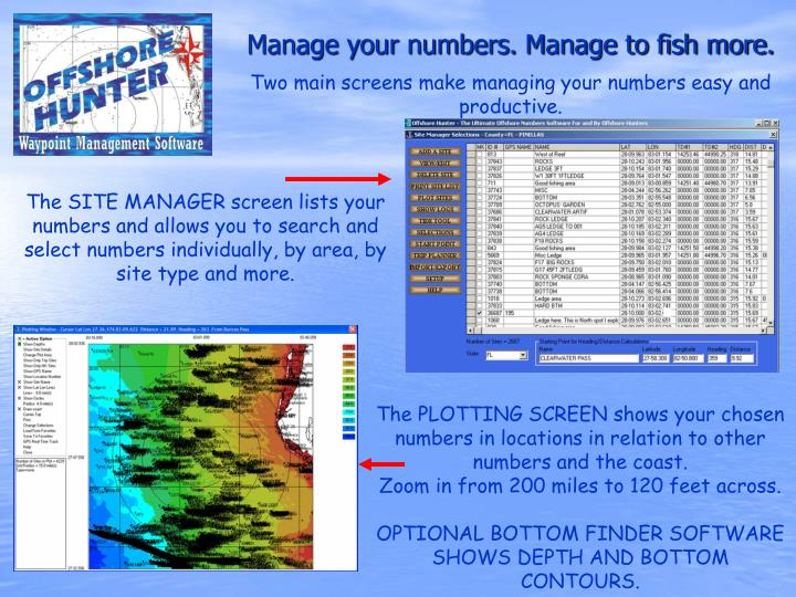 Two main screens make managing your numbers easy and productive.