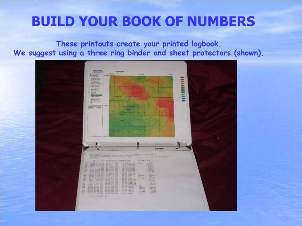 BUILD YOUR BOOK OF NUMBERS