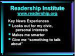 readership institute www readership org