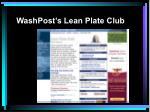 washpost s lean plate club