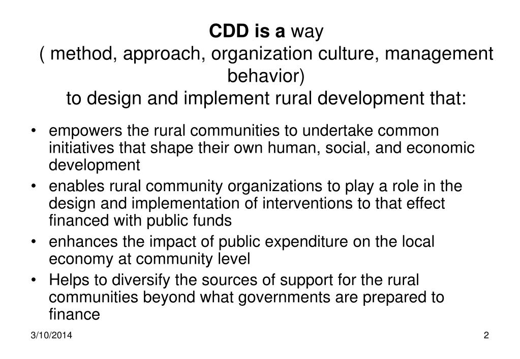 CDD is a