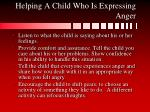 helping a child who is expressing anger