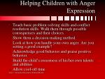 helping children with anger expression