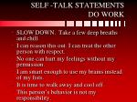 self talk statements do work