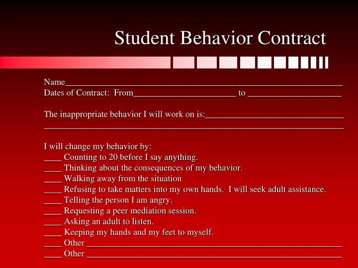 student behavior contract name______________________________________________________________