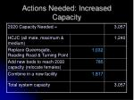 actions needed increased capacity