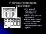 findings alternatives to incarceration