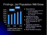 findings jail population will grow